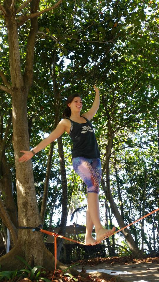Slacklining- the best test of patience, and willingness to fall!